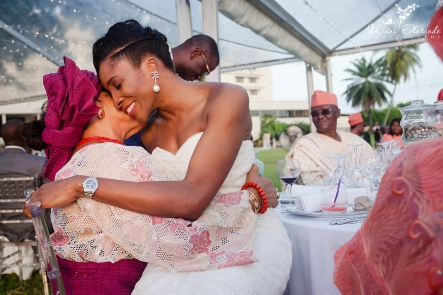 mother daughter special moment at federal palace lagos outdoor wedding