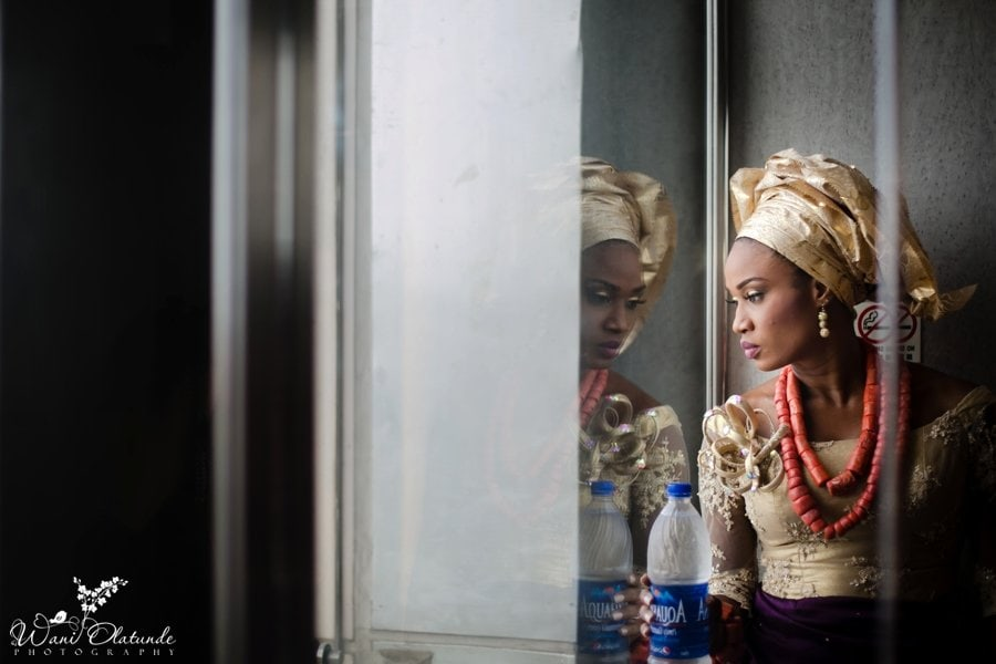 urhobo bride oriental hotel purple gold outfit