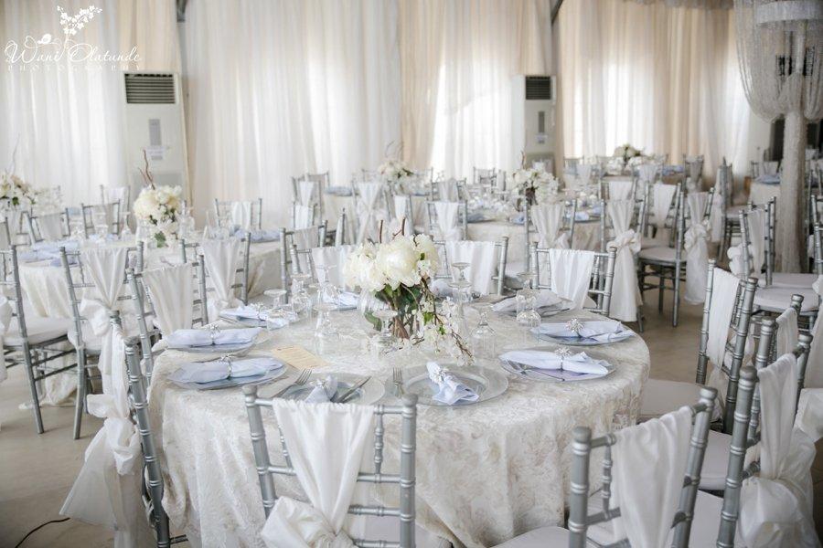 white decor urhobo wedding newton and david ruby gardens