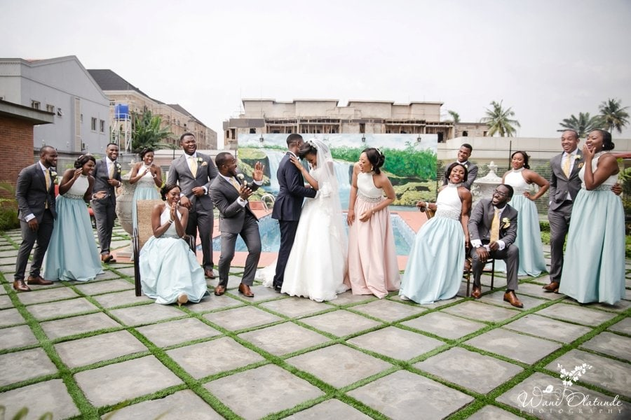 blue & pink bridesmaids dresses house of splendour wani olatunde photo