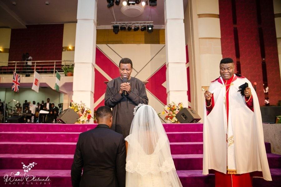 pastor adegboye at bishop okonkwo daughter wedding wani olatunde photo