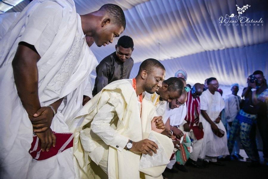 ivory cream yoruba traditional wedding grandeur event centre wani olatunde photo