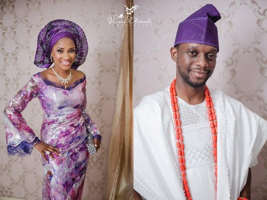 purple yoruba traditional wedding grandeur event centre wani olatunde photo