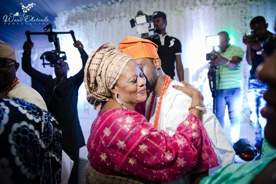 orange yoruba traditional wedding grandeur event centre wani olatunde photo