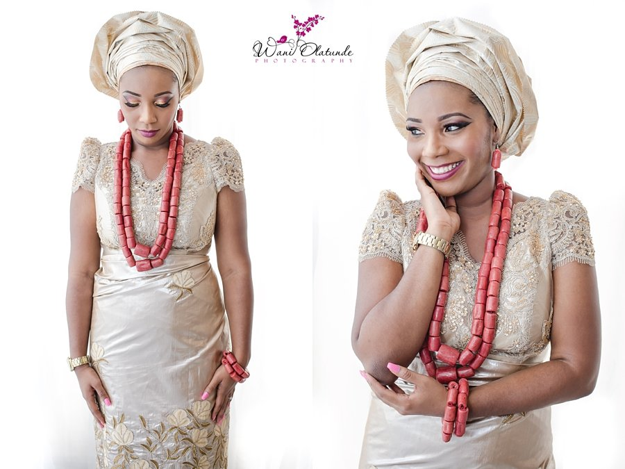 traditional ibo wedding bride gold wani olatunde