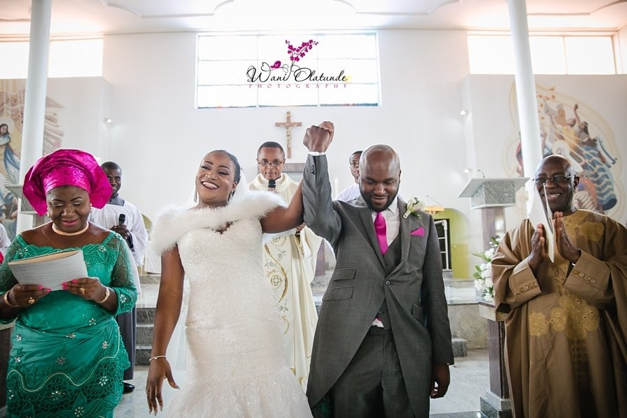 divine mercy church wedding wani olatunde