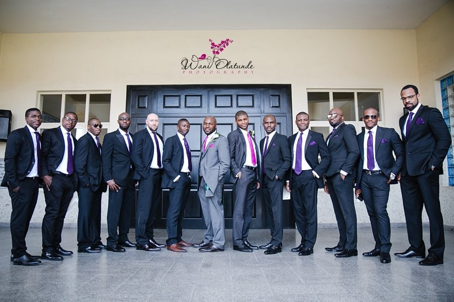 groom fuchsia purple ties wani olatunde
