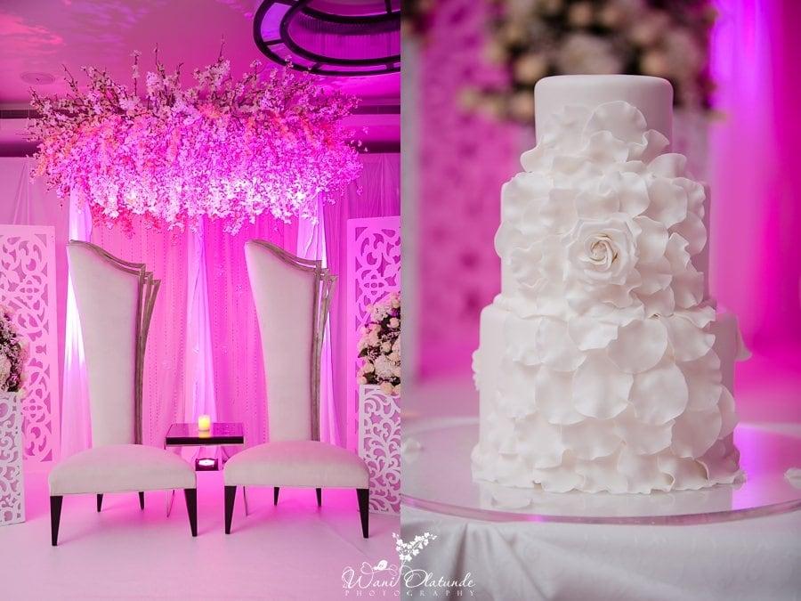 Elegant Pink Wedding Dubai Marriott Wani Olatunde