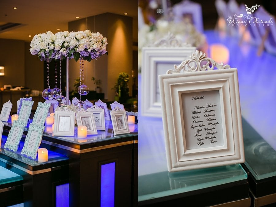 table plan frames wedding decor wani olatunde