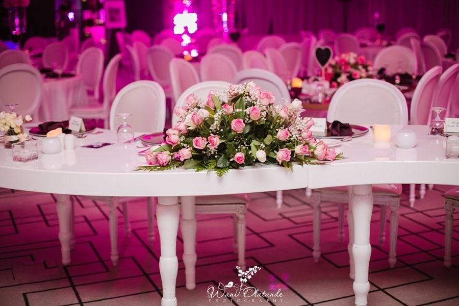 pink wedding decor dubai wani olatunde