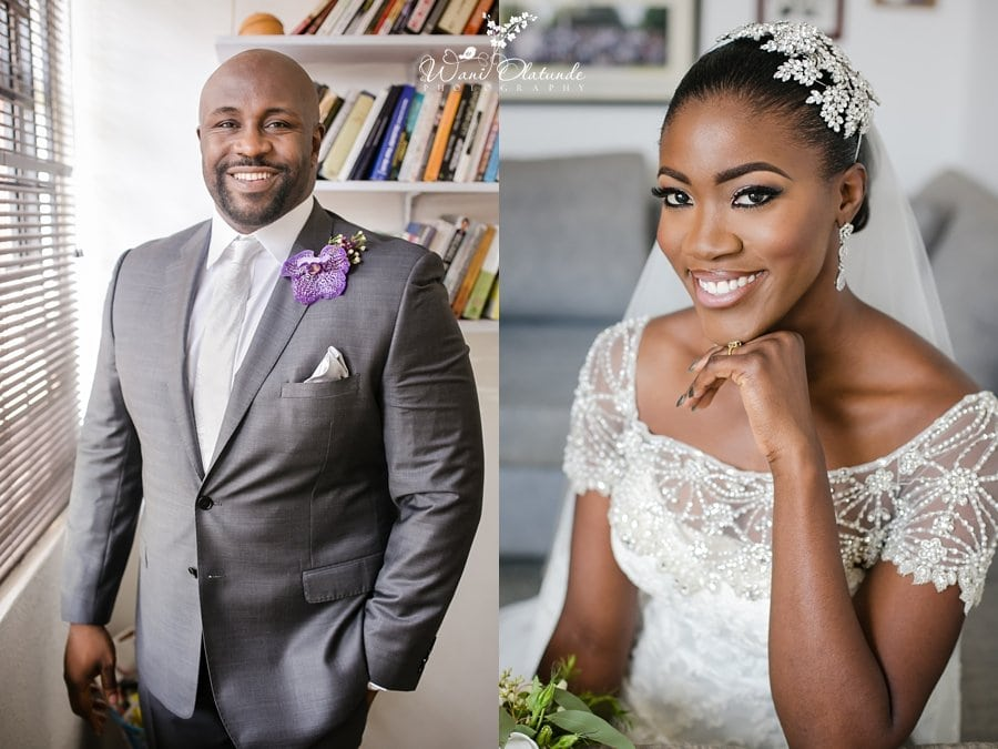 dark skinned melanin bride make up by odiri