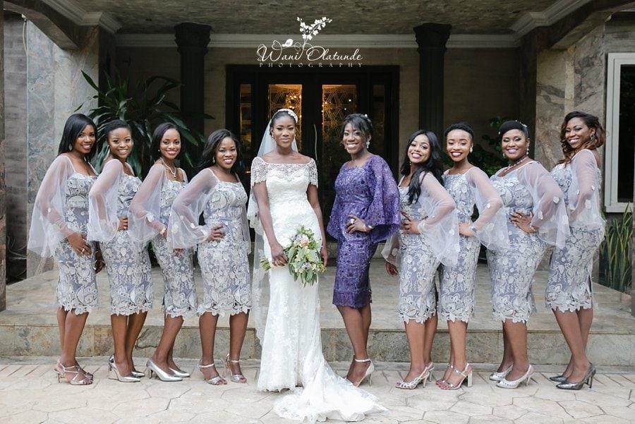 bridesmaids in grey ayaba dresses