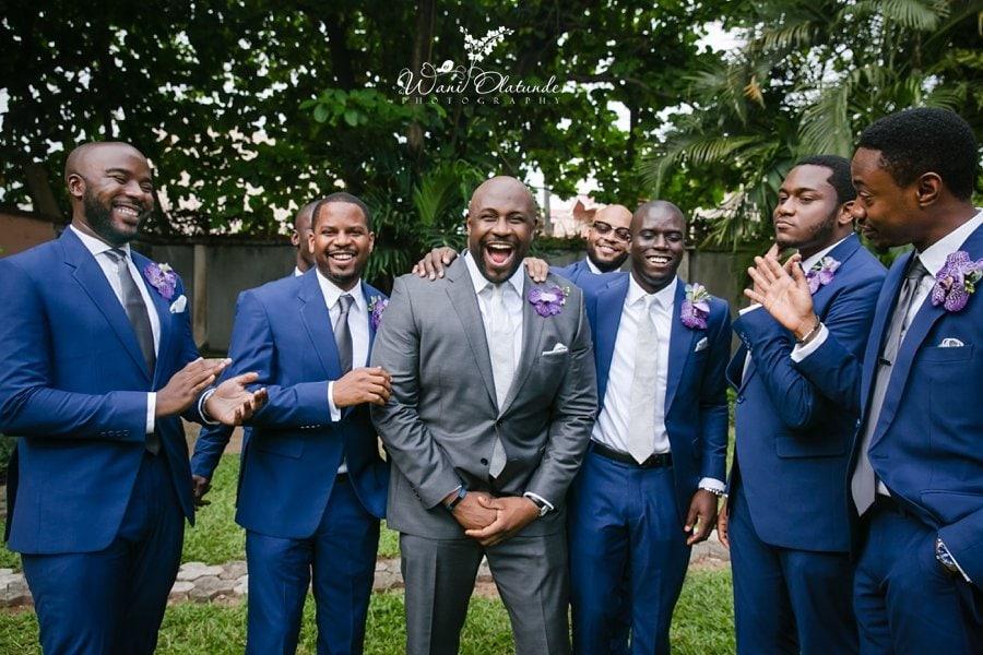 happy groom groomsmen in kimono collection clear essence ikoyi