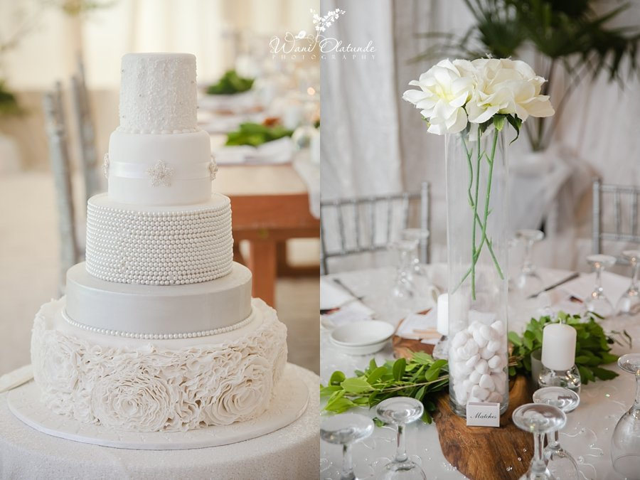 elegant white cake by nuts about cakes lagos