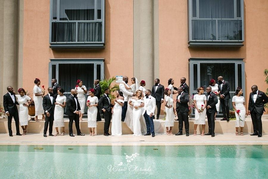 bridal party wheat baker lagos wani olatunde