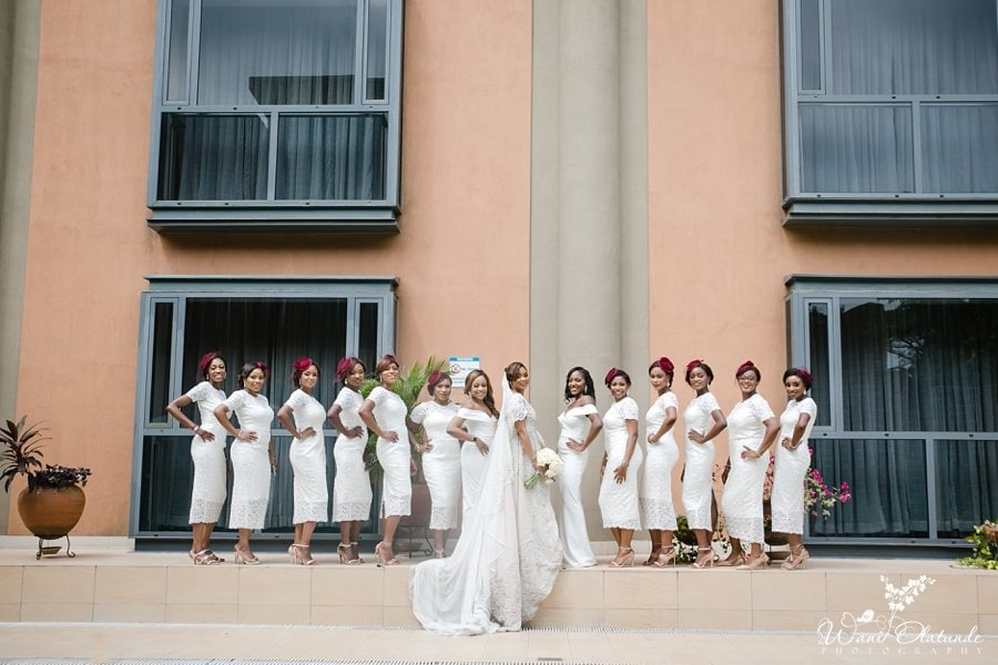 peridot white lace dresses bridesmaids wani olatunde