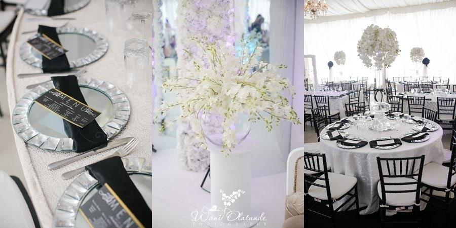 black white wedding d venue lagos wani olatunde