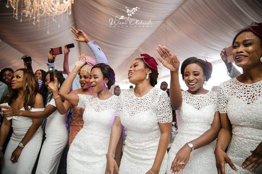 bridesmaids dancing d venue dvenue cedarwood lagos wani olatunde
