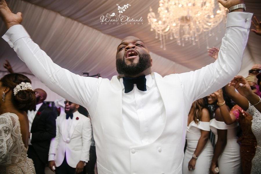 groom dancing d venue dvenue cedarwood lagos wani olatunde