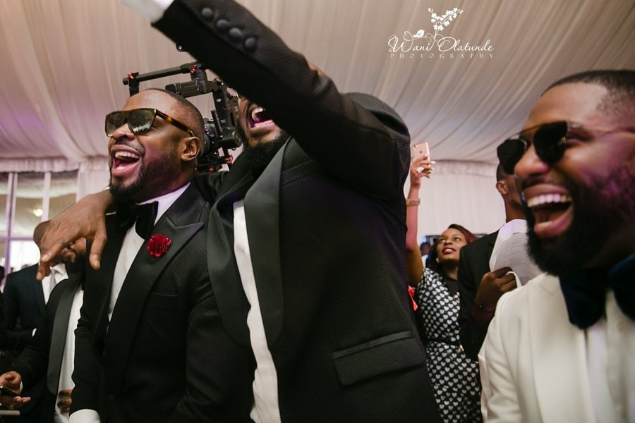 groomsmen dancing d venue dvenue cedarwood lagos wani olatunde