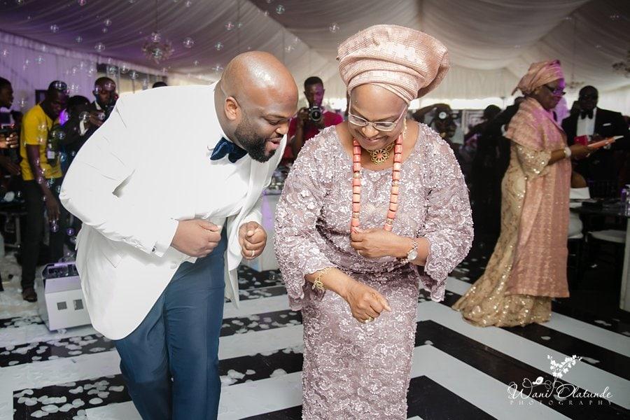 wedding dance at d venue lagos wani olatunde