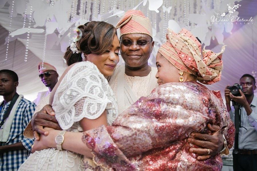 emotional moment bride and mother wedding wani olatunde
