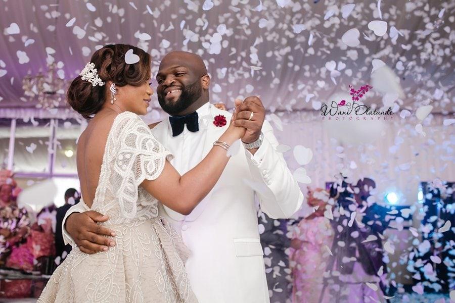 hearts confetti first dance wedding lagos wani olatunde