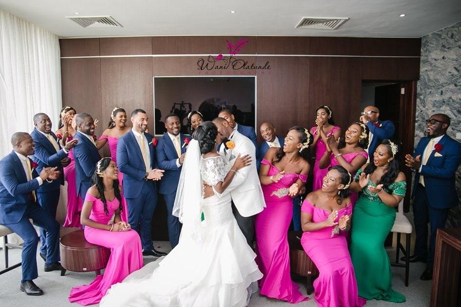 landmark towers wedding bridal party wani olatunde