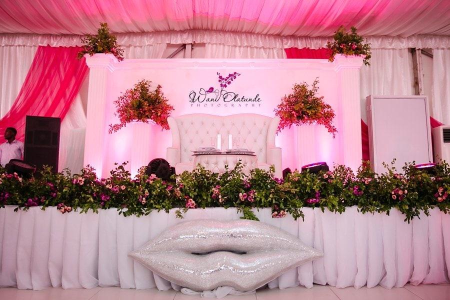 d venue wedding pink wani olatunde