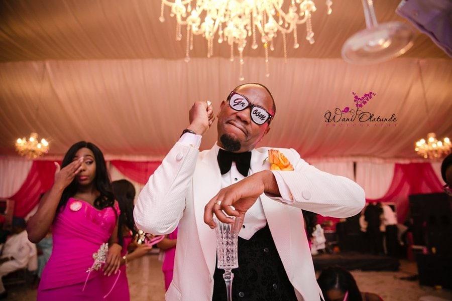 groom fun glasses wedding wani olatunde