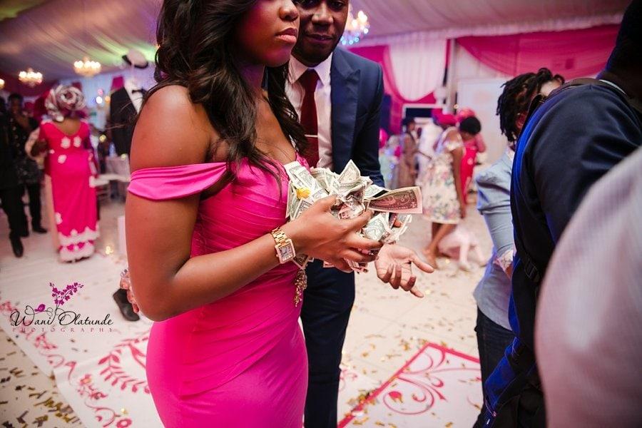 money spraying lagos wedding wani olatunde