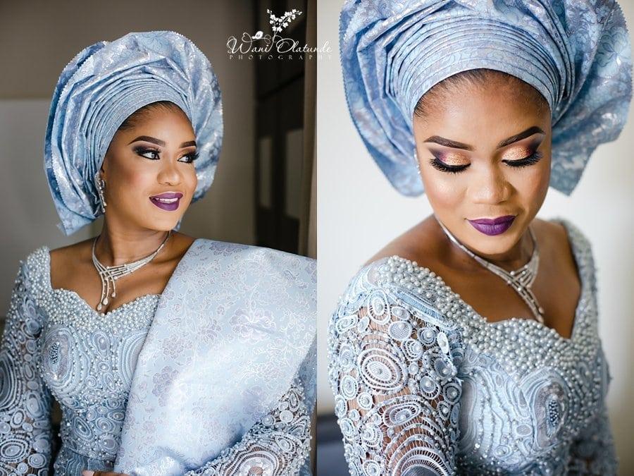 yoruba bride blue lace wani olatunde