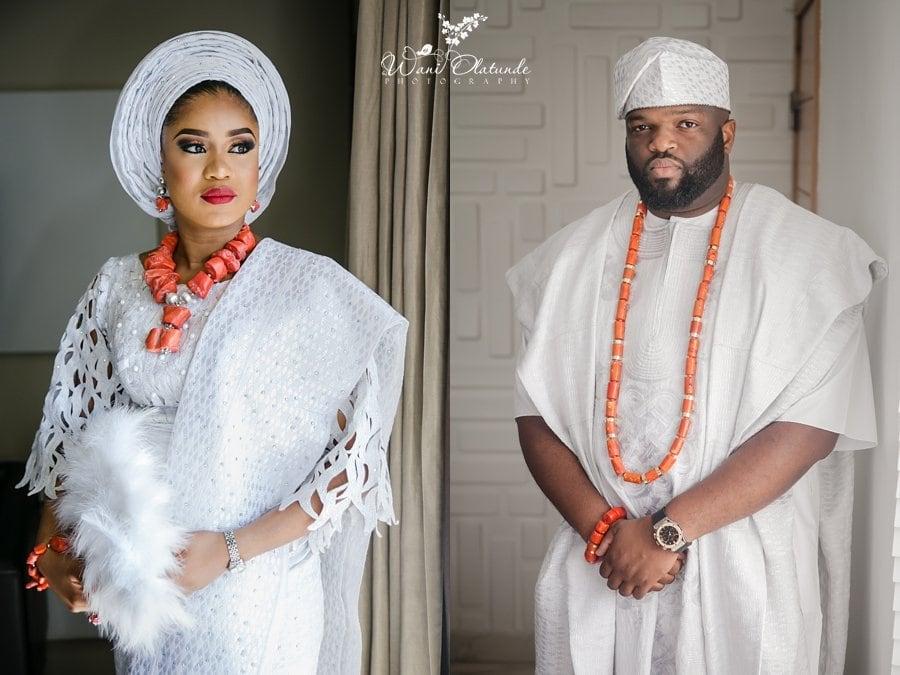 yoruba bride white asooke aso oke wani olatunde