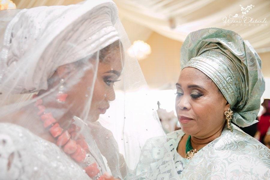 yoruba bride greets mother wani olatunde