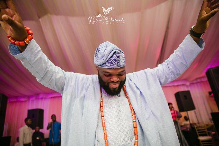 happy groom dancing queens park wani olatunde