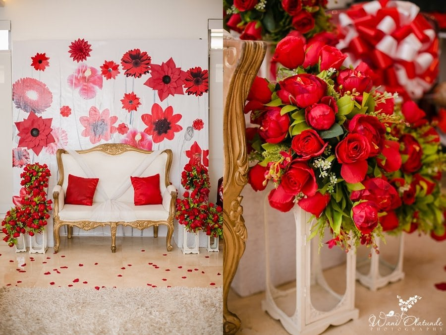red decor yoruba wedding wani olatunde