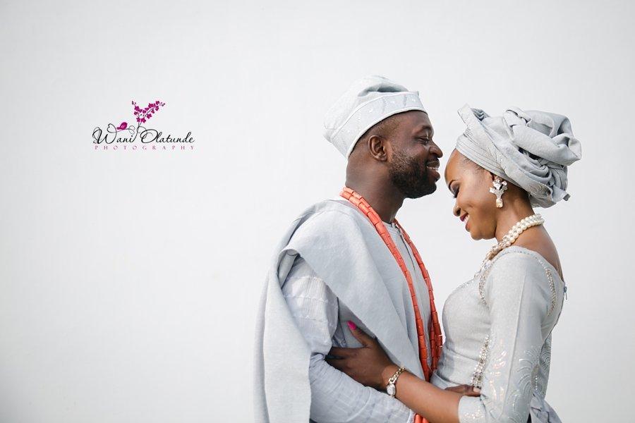 pictures of yoruba couple at wedding wani olatunde