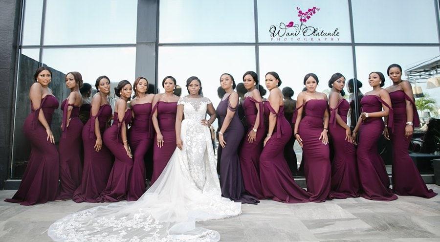 peridot bridesmaids burgundy dresses lagos wani olatunde
