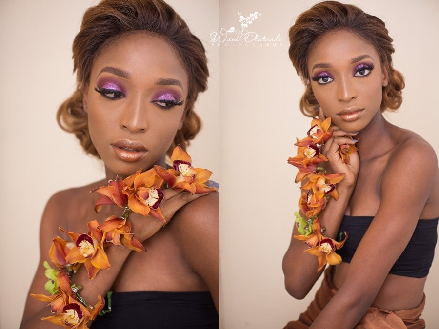 brown corsage beauty portraits lagos wani olatunde