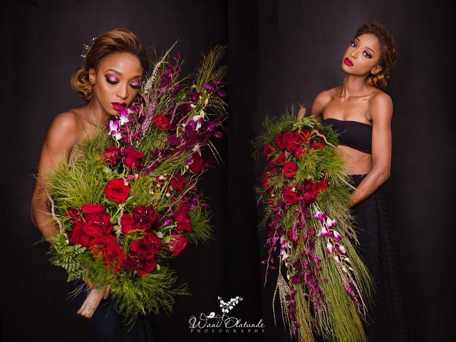 red wine bouquet stylish avant garde aralia by nature wani olatunde portraits