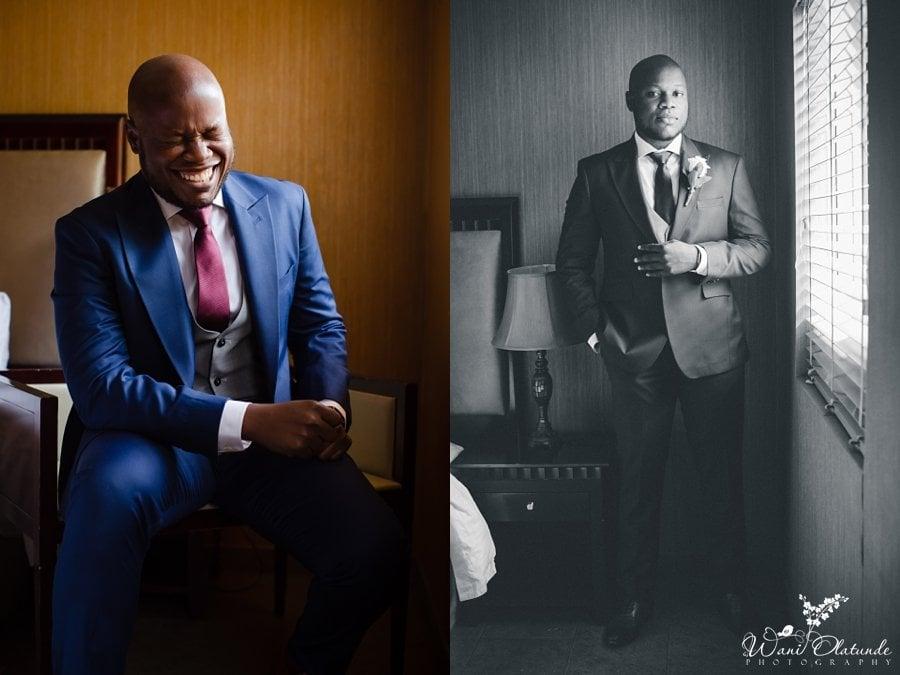 groom blue suit wedding wani olatunde