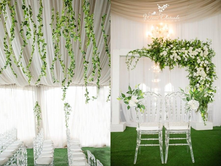 btw wedding decor pics garden wani olatunde