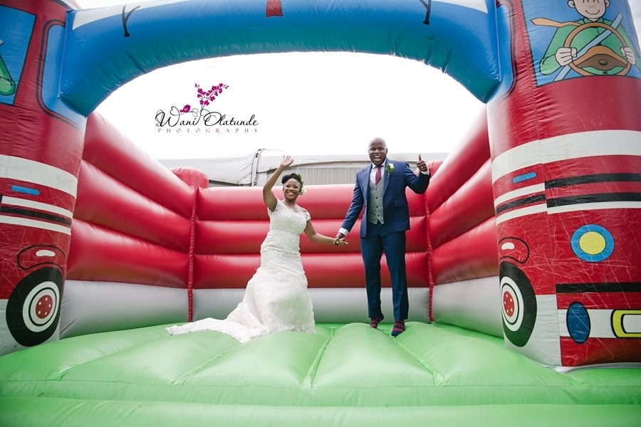 bride groom bouncy castle wani olatunde