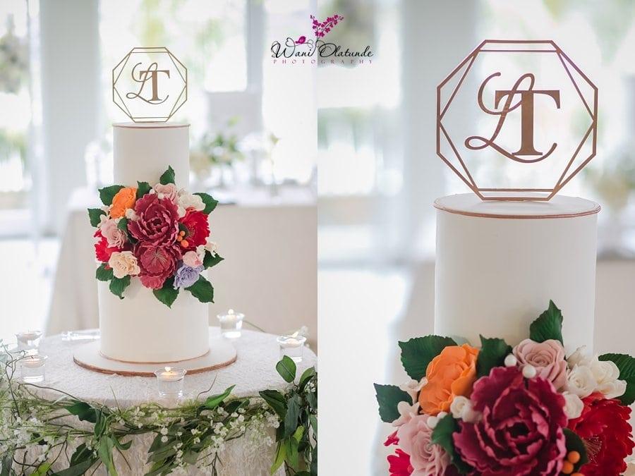 livvys twist wedding cake lagos wani olatunde