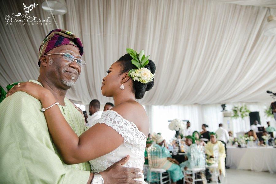 father daughter dance lagos wedding wani olatunde