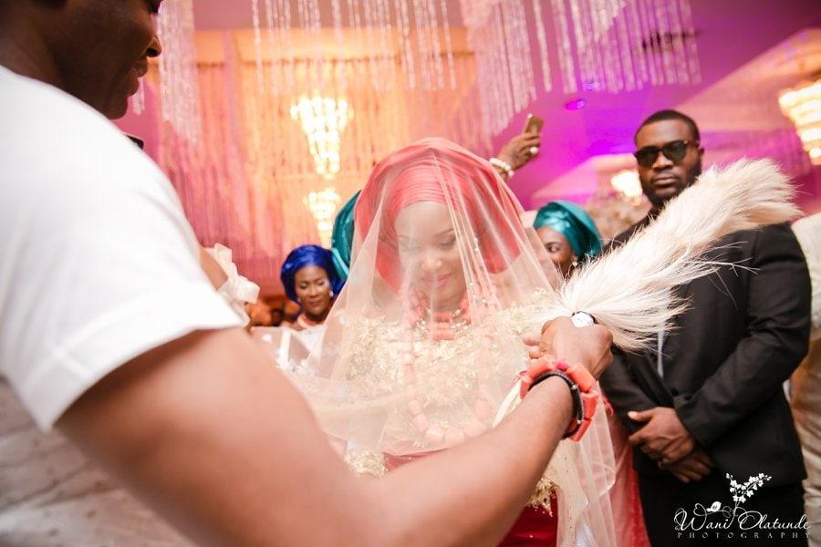 urhobo bride veil civic centre lagos wani olatunde