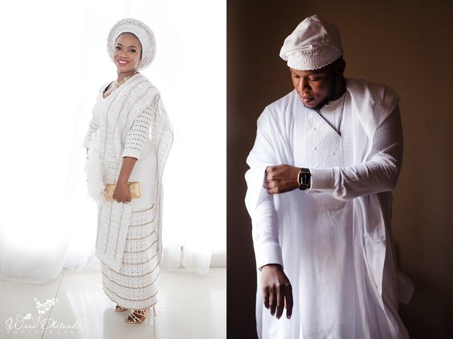 bride prep white aso oke bisbod lagos wani olatunde