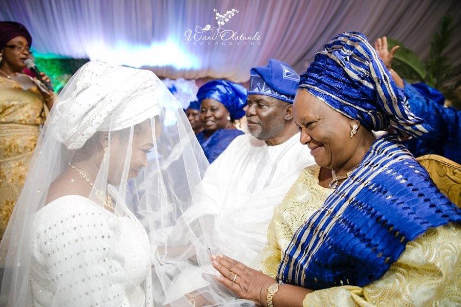 bride veil yoruba wedding wani olatunde