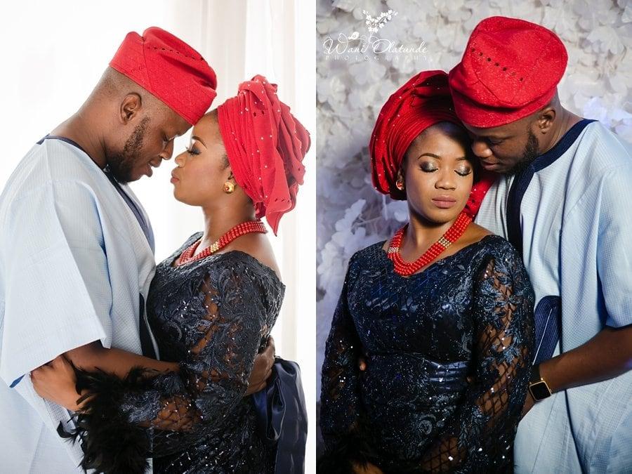 blue red lace yoruba wedding dashiki wani olatunde