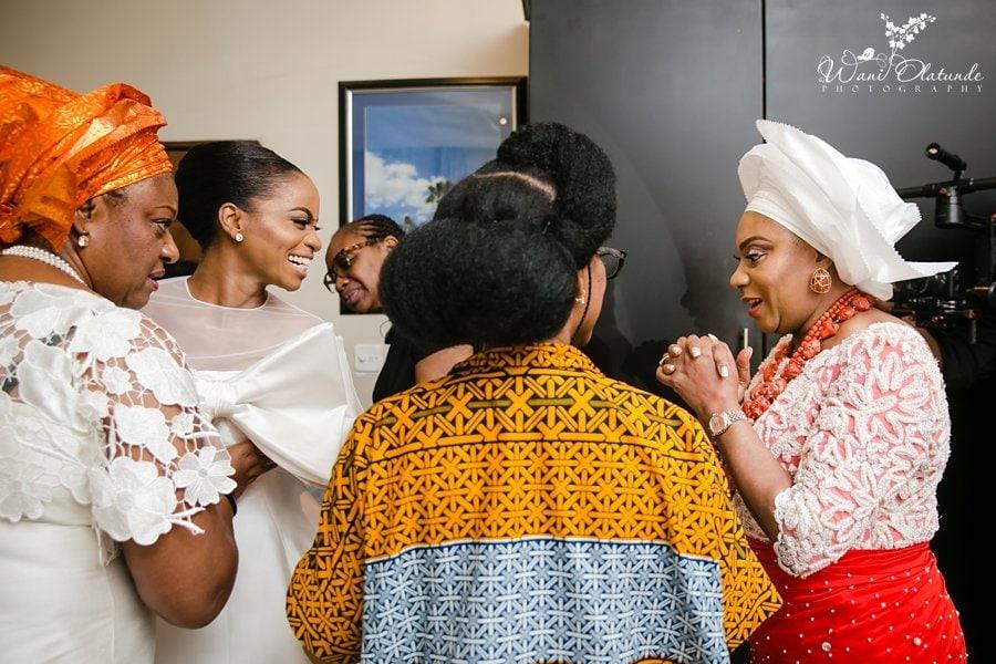 mother daughter wedding moment wani olatunde
